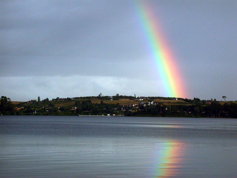 Rainbow over Lago Llanquehue.