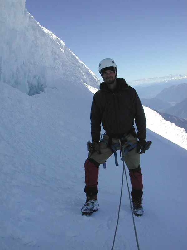 Trystan near the summit of Volcan Osorno.