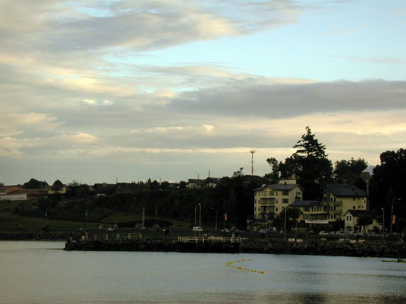View of Puerto Varas on the shore of Lago Llanquehue