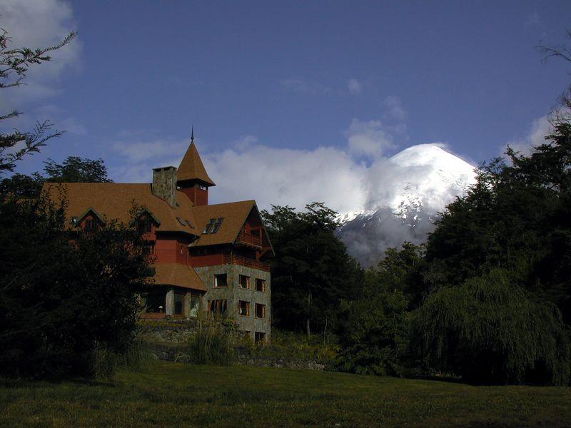 View of Volcan Osorno from the shore of Lago Todos los Santos.