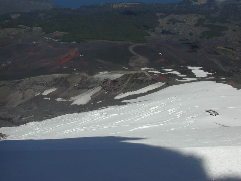 View of our route on Volcan Osorno.