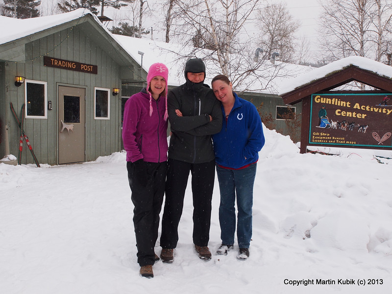 Jan the explorer admired by Bonnie and Sheryl at the Gunflint Activity Center.  The staff was very friendly and let us change from space suits to travel clothes there.   Thank you!