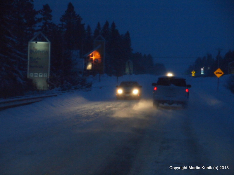 Snow was sometimes quite heavy as we drove home.   We look to come back soon!