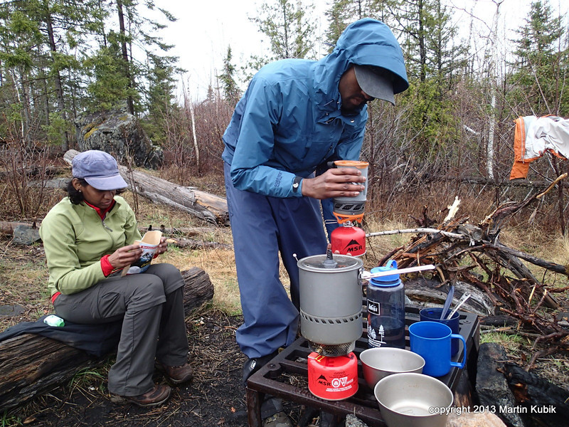 Jetboil and MSR Reactor are the two favorite stoves on this trip.