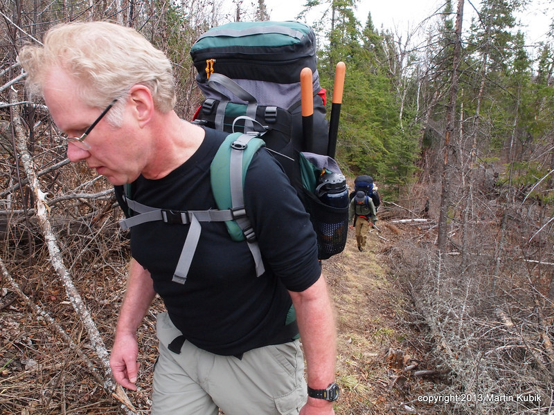 Tom leads the way into the BWCA Wilderness.