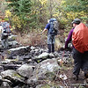 Crossing Chub River just east of Seahorse.  The rocky crossing was built by BWAC crew in 2009.   It would be a wet crossing in May or after heavy rains.
