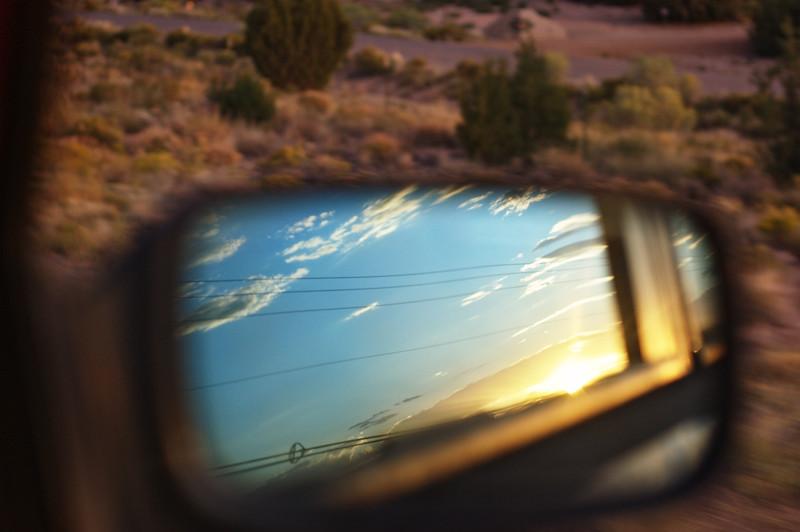 Sunset on Drive to Placitas