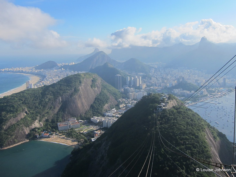 Looking down the Sugarloaf Mountain (Pao de Acucar) - Rio, Brazil
