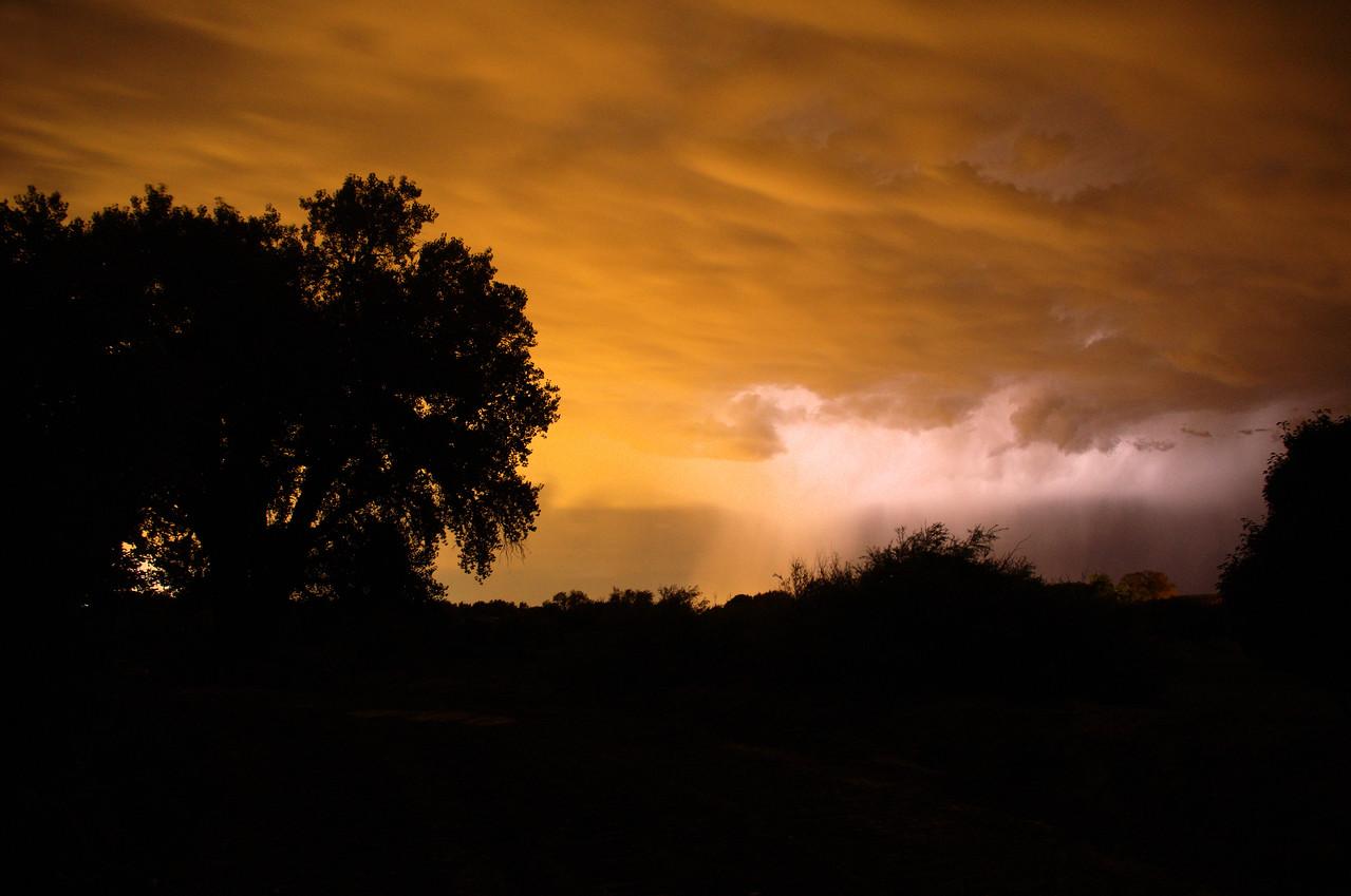 August 24 storm over Albuquerque.