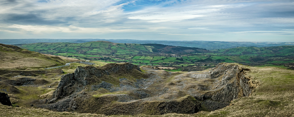 View from Black Mountains South Wales