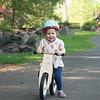 Riding her bike