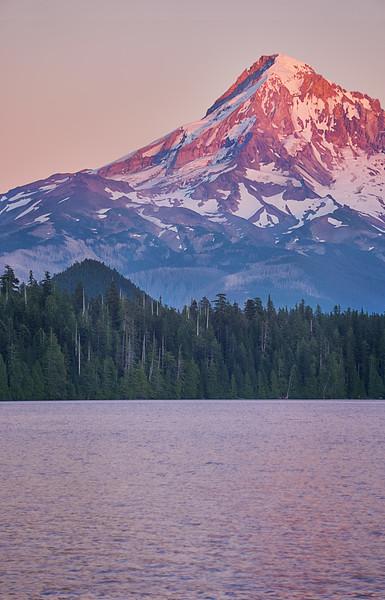 Pink sunset at Lost lake