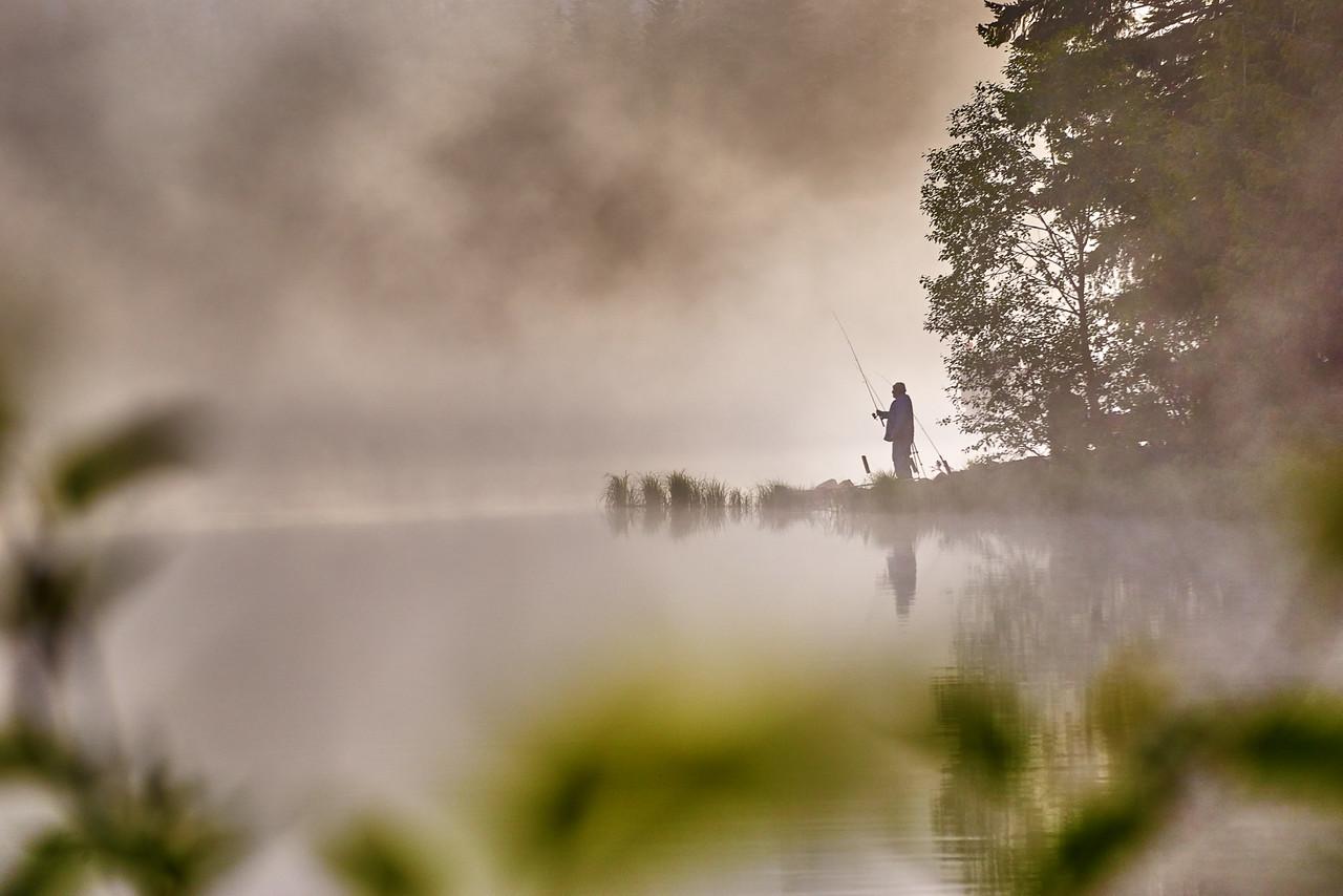 Foggy morning fishing