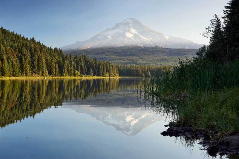 Trillium Lake sunrise Long Exposure
