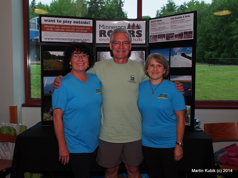 Join the Minnesota Rovers and your life will get better!   That's because Rovers engage in many different outdoor activities.  Here is Kim Leighton, Scott Merrill, and Shelly Greenwood.  Rovers have about 350 members and utilize Meetup for scheduling activities and weekly meetings.