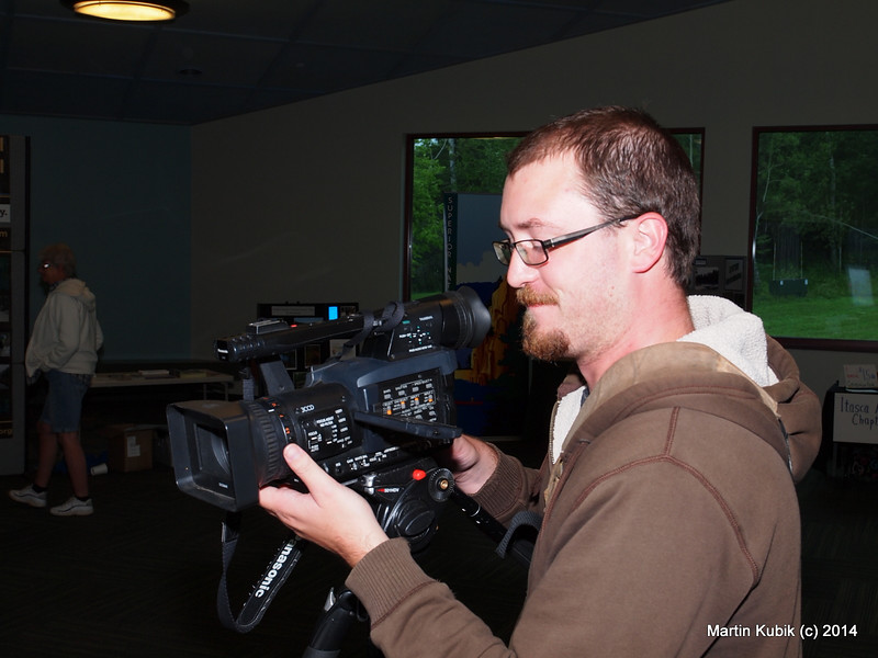 And this is Shawn of Channel 6 in Duluth.  I tried to talk him into doing a two hour interview with me, but Shawn seemed to be focused only on our BWAC map of the trails in the BWCAW.  An opportunity to talk missed.