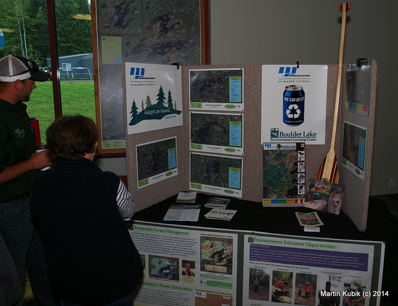 Minnesota Power booth.  MN Power maintains number of recreational areas for public.