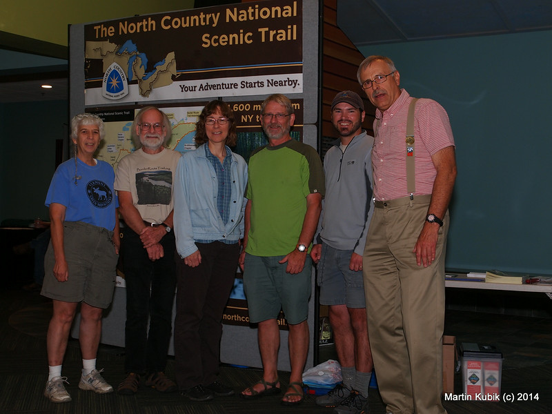 We may not make the New York Times celebrity fundraiser report page, but here it goes:  Joan Young, NCTA, Ed Solstad of Rovers and BRTA, Gayle Coyer of SHTA, Rudi Hargesheimer of Midwest Mountaineering, Matt Davis of NCTA,  and Martin Kubik, CP-USA.  Just Kidding!