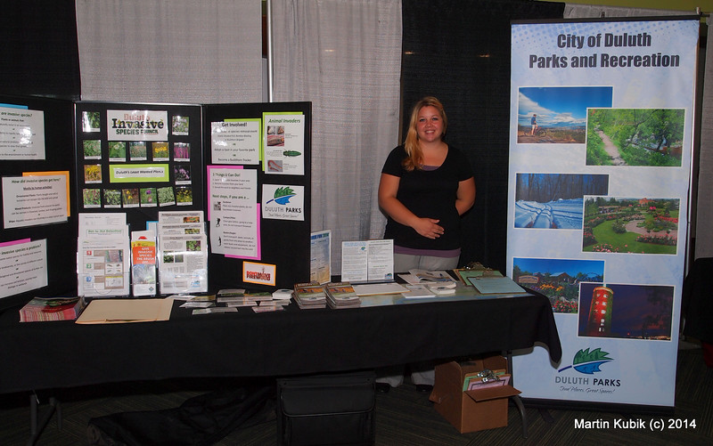 Jessica from Parks and Recreation in Duluth  with a well thought out message in the booth.  And what about that cool looking Duluth Parks logo?  I would like to contact the designer.