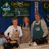 This happy team (well of course, they eat all the time at the show) served me tasty biscuits and gravy.  Thanks!  And their web site in right on the banner.