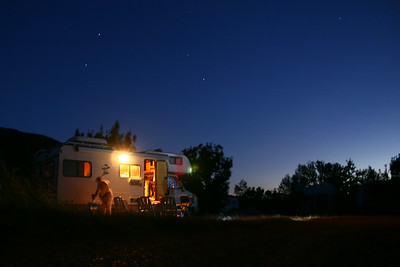 Camping night Lac du Salagou