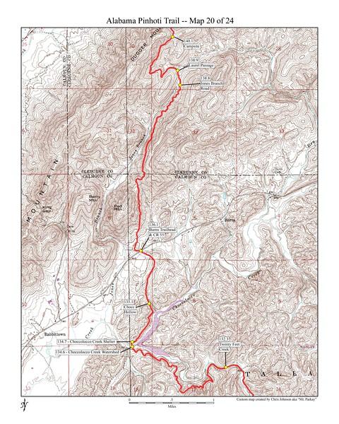 Dugger mountain section of Pinhoti trail