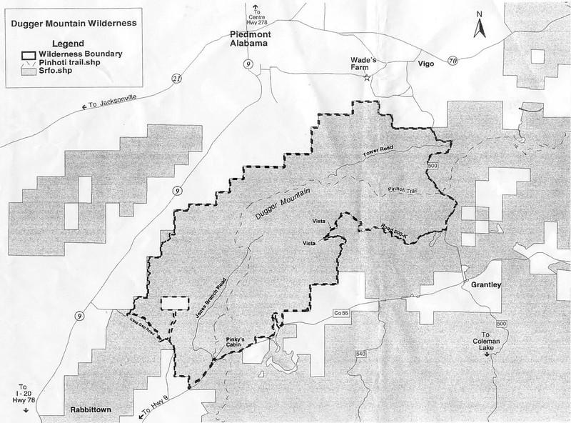 Dugger Mountain Map