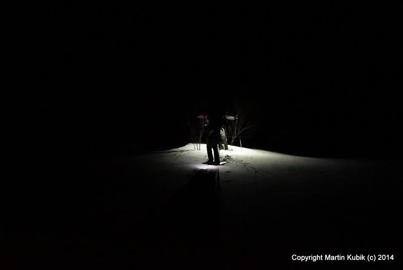 At night everything around you looks the same.  Dark.