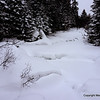 Crossing the frozen river requires experience, instinct and sound judgment.  We crossed here without losing anyone.
