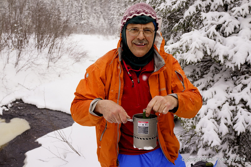 """Whenever we can access running stream, we use Steripen to treat water to kill Giardia with UV light.  It saves us having to carry extra fuel to melt snow (time consuming!)  Plus, Steripen weighs only 2.6 ounces making it several times lighter than a water filter.  <a href=""""http://www.steripen.com/"""">http://www.steripen.com/</a>"""