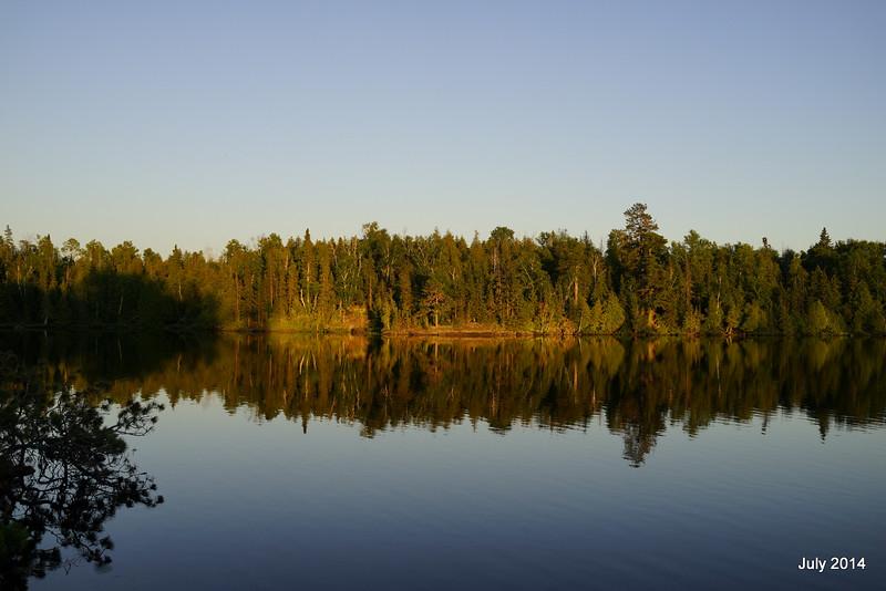 Morning on Lake Three (the unburned section).