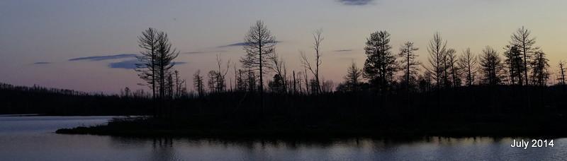 After sunset on Lake Three.