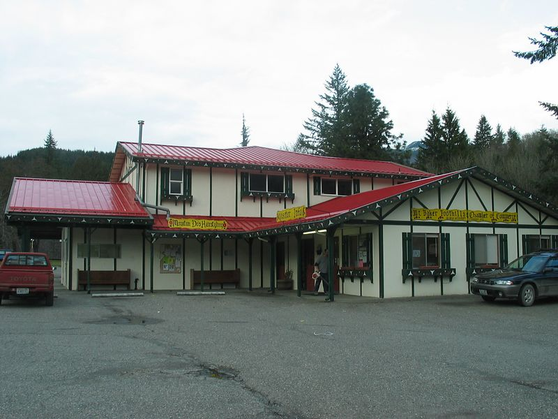 A pretty building that I always want to take a picture of.  It is the information center (in Maple Falls????)