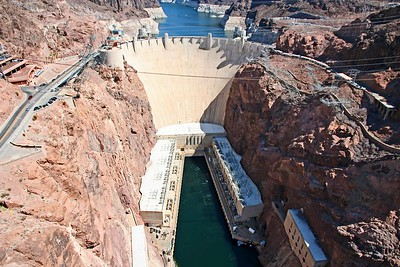 Hoover Dam - from the new road bridge
