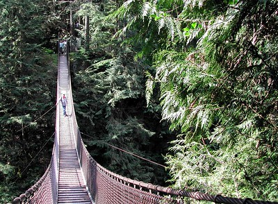 Lynn Canyon Suspention Bridge, Vancouver, BC  Canada