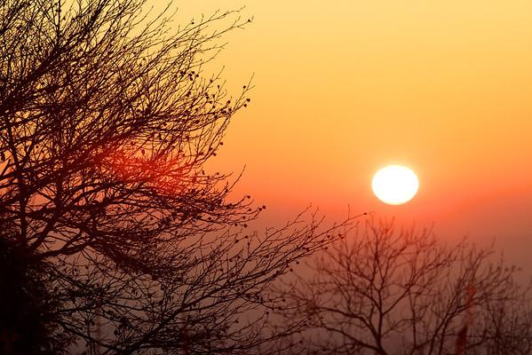Sunset 16th January 2012