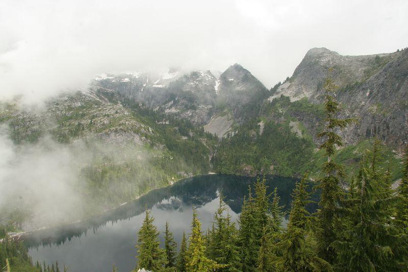 View back down to Thornton Lake.