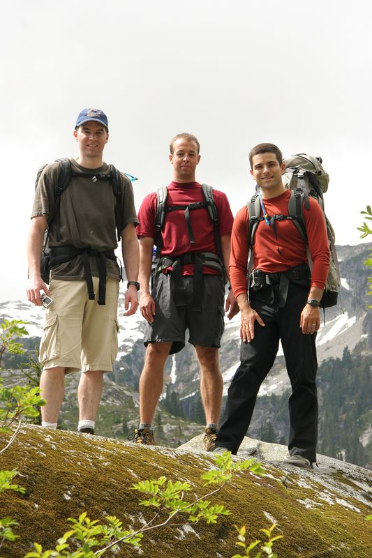 My backpacking compatriots: Rob, Bill, and Scott