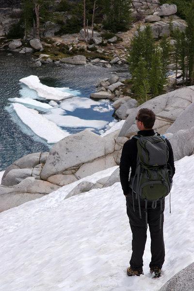 Bill contemplates the lake.