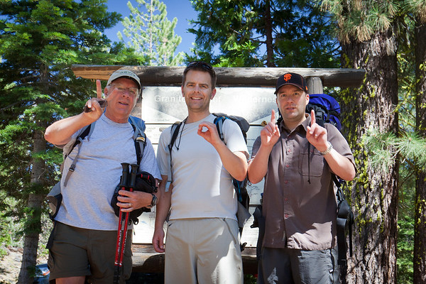 Tom, Andy and Tim backpacking trip Granite Chief Wilderness California