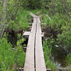 BWA Committtee crew repaired this board walk that was washed out when beaver dam upstream burst sometime in May.