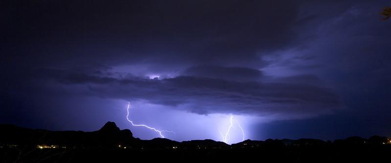 Tuscon, Arizona electrical storms