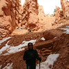 Angela on the Navajo Trail switchbacks