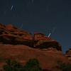 star streaks and red rocks