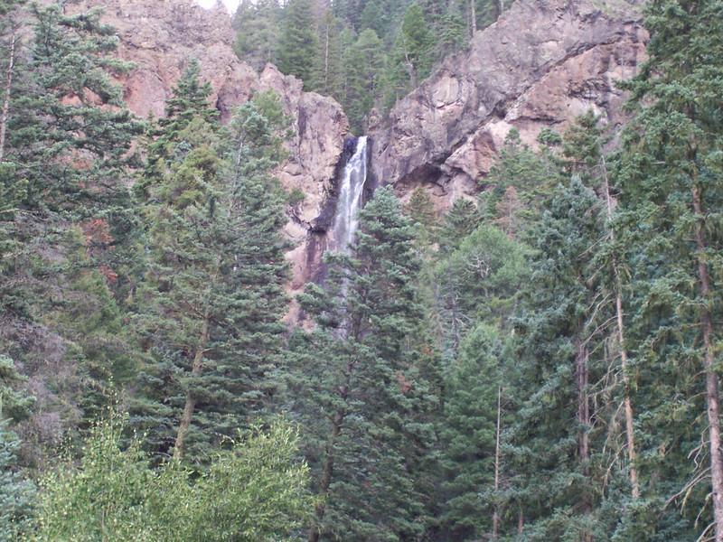 Treasure Falls, CO roadside view.
