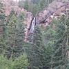Treasure Falls, CO roadside view.