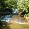 Cedar Rock Creek Upper Falls, NC very easy hike.