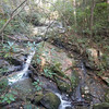 Unnamed falls south further down from Misty Falls, SC