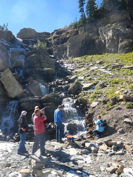 Oberlin Falls, MT within Glacier NTL Park, roadside view.
