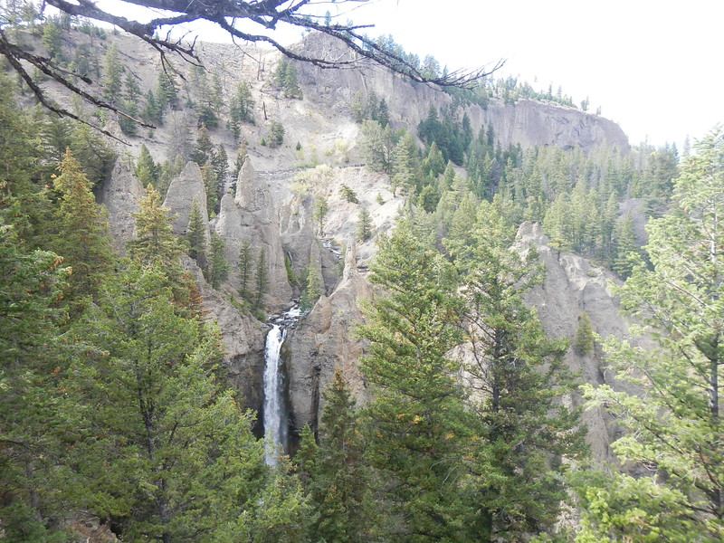 Tower Falls, WY  2016 within Yellowstone NTL Park, roadside view.